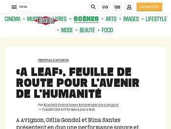 «A Leaf», feuille de route pour l'avenir de l'humanité