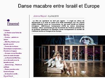 Danse macabre entre Israël et Europe