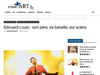 Édouard Louis : son père, sa bataille, sur scène