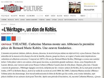 «L'Héritage», un don de Koltès.