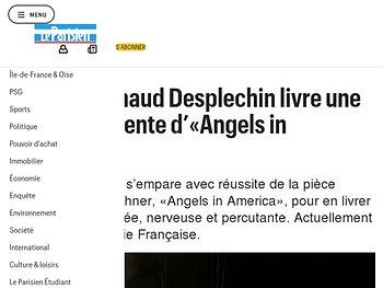Arnaud Desplechin livre une version démente d'«Angels in America»