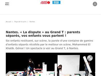 « La dispute » au Grand T : parents séparés, vos enfants vous parlent !