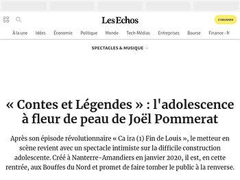 «Contes et Légendes»: l'adolescence à fleur de peau de Joël Pommerat