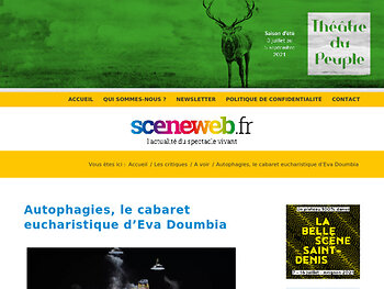 Autophagies, le cabaret eucharistique d'Eva Doumbia