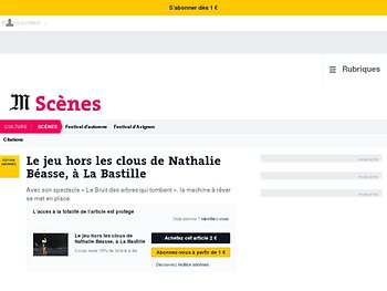 Le jeu hors les clous de Nathalie Béasse, à La Bastille