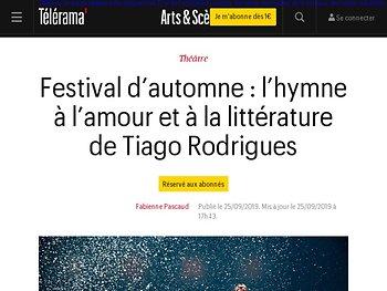 L'hymne à l'amour et à la littérature de Tiago Rodrigues