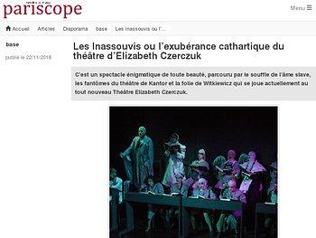 Les Inassouvis ou l'exubérance cathartique du théâtre d'Elizabeth Czerczuk
