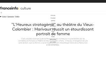 """""""L'Heureux stratagème""""  : Marivaux réussit un étourdissant portrait de femme"""