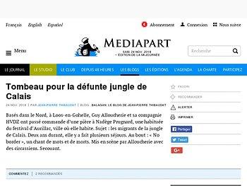 Tombeau pour la défunte jungle de Calais