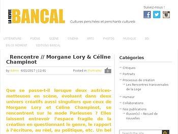 Rencontre // Morgane Lory & Céline Champinot