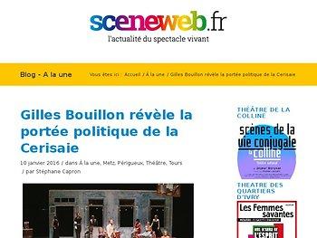 Gilles Bouillon révèle la portée politique de la Cerisaie
