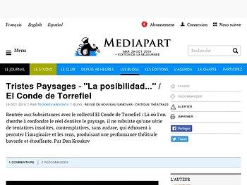 """Tristes Paysages - """"La posibilidad..."""" / El Conde de Torrefiel"""