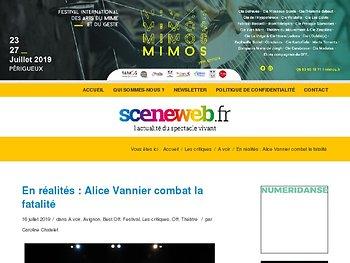 En réalités : Alice Vannier combat la fatalité