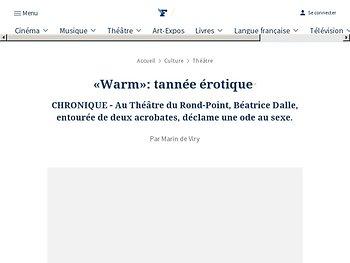 «Warm» : tannée érotique