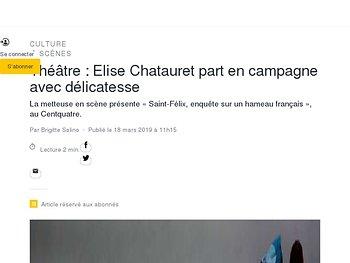 Elise Chatauret part en campagne avec délicatesse