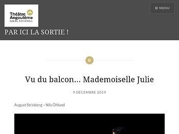 Vu du balcon… Mademoiselle Julie