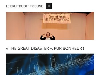 « The Great Disaster», pur bonhuer !