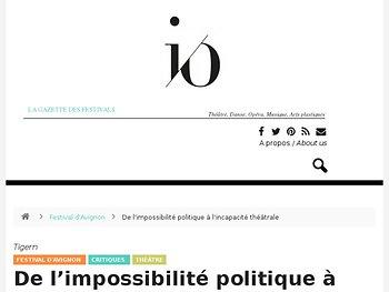 De l'impossibilité politique à l'incapacité théâtrale