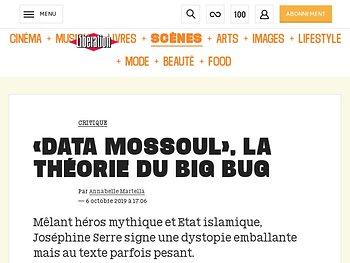 «Data Mossoul», la théorie du big bug