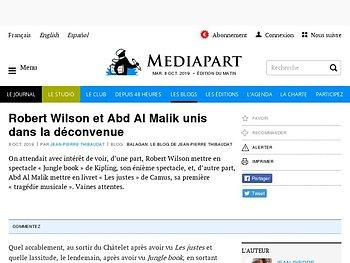Robert Wilson et Abd Al Malik unis dans la déconvenue