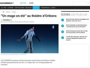 """""""Un mage en été"""" au théâtre d'Orléans"""