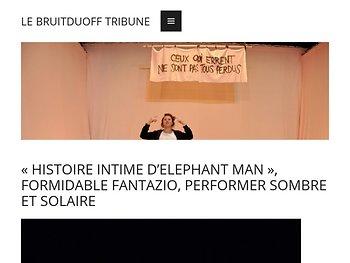 «Histoire intime d'Elephant Man», vraie fausse conférence