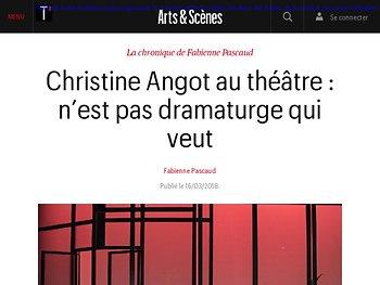Christine Angot au théâtre : n'est pas dramaturge qui veut
