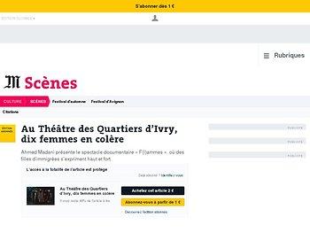 Au Théâtre des Quartiers d'Ivry, dix femmes en colère