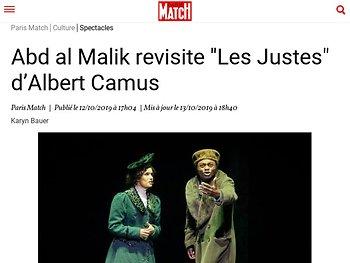 """Abd al Malik revisite """"Les Justes"""" d'Albert Camus"""