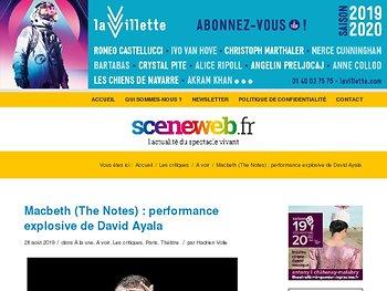 Macbeth (The Notes) : performance explosive de David Ayala