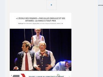 """""""L'École des femmes"""" : la farce à tout prix"""