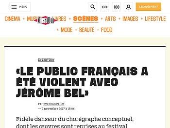 «Le public français a été violent avec Jérôme Bel»