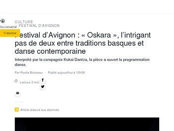 «Oskara», l'intrigant pas de deux entre traditions basques et danse contemporaine