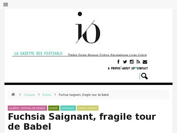 Fuchsia Saignant, fragile tour de Babel