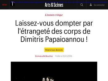 Laissez-vous dompter par l'étrangeté des corps de Dimitris Papaioannou !
