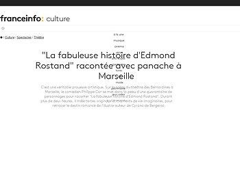 """""""La fabuleuse histoire d'Edmond Rostand"""" racontée avec panache à Marseille"""