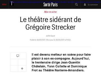 Le théâtre sidérant de Grégoire Strecker