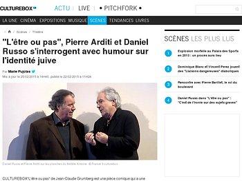Pierre Arditi et Daniel Russo s'interrogent avec humour sur l'identité juive