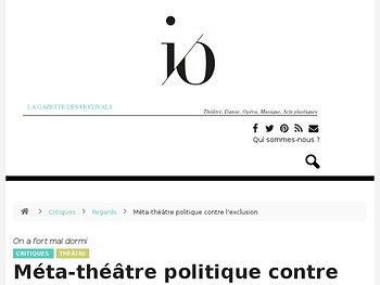 Méta-théâtre politique contre l'exclusion