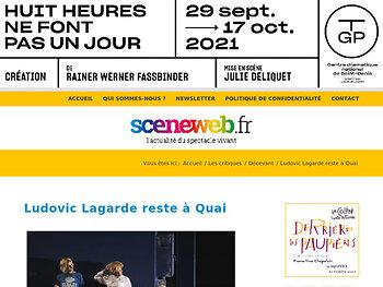 Ludovic Lagarde reste à Quai
