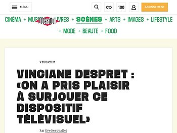 Vinciane Despret :  « On a pris plaisir à surjouer ce dispositif télévisuel »