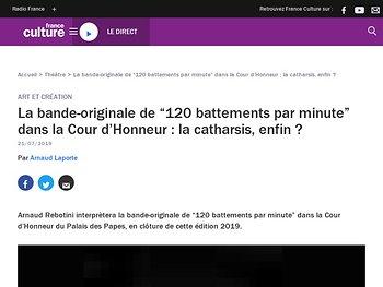 """La bande-originale de """"120 battements par minute"""" dans la Cour d'Honneur : la catharsis, enfin ?"""