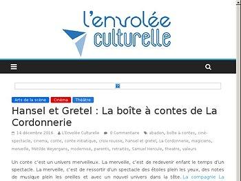 Hansel et Gretel : La boîte à contes de La Cordonnerie