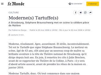 Moderne(s) Tartuffe(s)