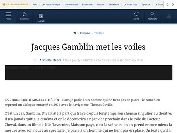 Jacques Gamblin met les voiles
