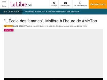 """""""L'École des femmes"""", Molière à l'heure de #MeToo"""