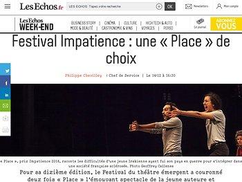 Festival Impatience: une «Place» de choix