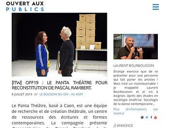 Le Panta Théâtre pour Reconstitution de P. Rambert. Magistral.