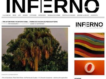 «Fire of Emotions : Palm Park ruins» : Pamina de Coulon les pieds sur terre