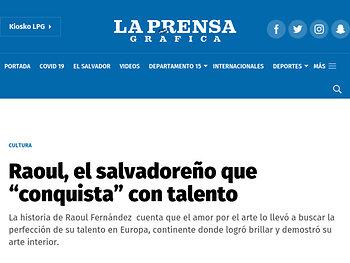 """Raoul, el salvadoreño que """"conquista"""" con talento"""